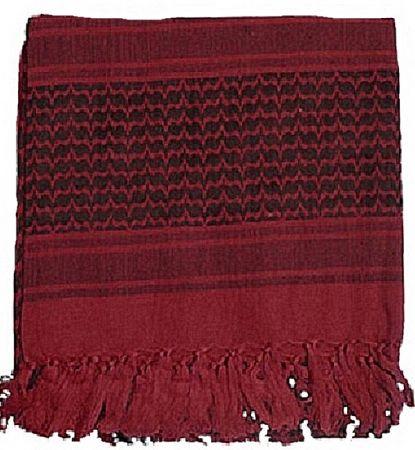 Šátek SHEMAGH burgundy & černá
