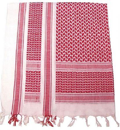 Šátek SHEMAGH bílá & červená