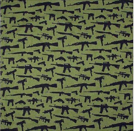 Šátek ROTHCO® BANDANA GUNS oliva 55x55cm