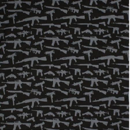 Šátek ROTHCO® BANDANA GUNS černá 55x55cm
