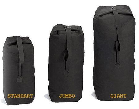 Vak ROTHCO® DUFFLE BAG JUMBO bavlna černá