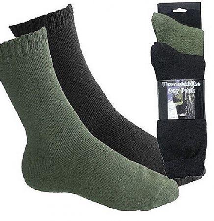 Ponožky THERMO 2páry černá & oliva - vel.41-43