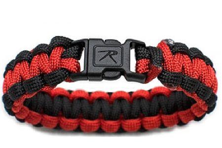 Náramek ROTHCO® PARACORD červená & černá