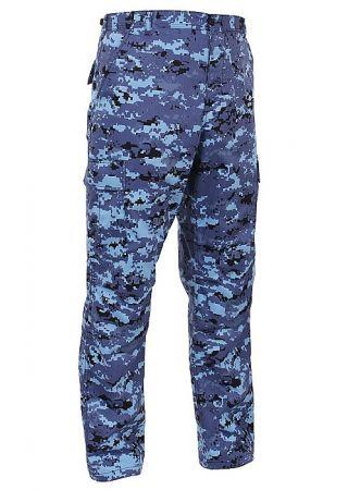 Kalhoty ROTHCO® BDU sky blue digital camo