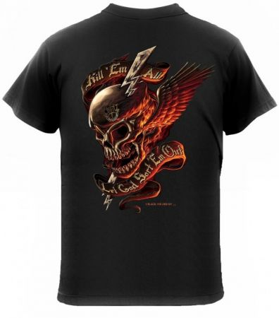 Tričko ROTHCO® KILL´EM ALL lebka s křídly černá