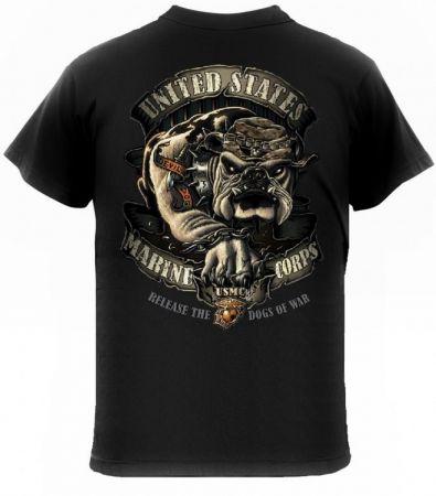 Tričko ROTHCO® U.S.M.C. BULLDOG černá