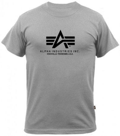 Tričko ALPHA INDUSTRIES BASIC šedá