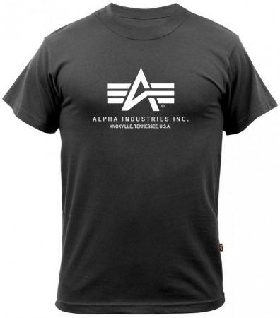 Tričko ALPHA INDUSTRIES BASIC černá
