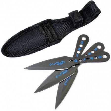 Nůž ALBAINOX BLACK DRAGON vrhací sada 3ks černá