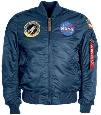 Bunda ALPHA INDUSTRIES MA-1 VF NASA repl.blue