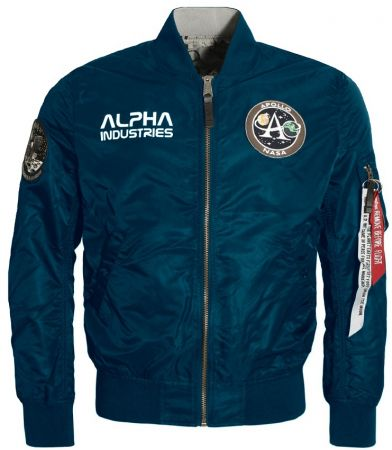 Bunda ALPHA INDUSTRIES MA-1 MOON LANDING oboustr. repl.blue