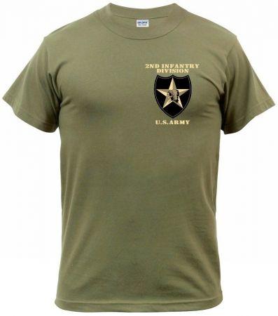 Tričko 2ND INFANTRY DIVISION military green