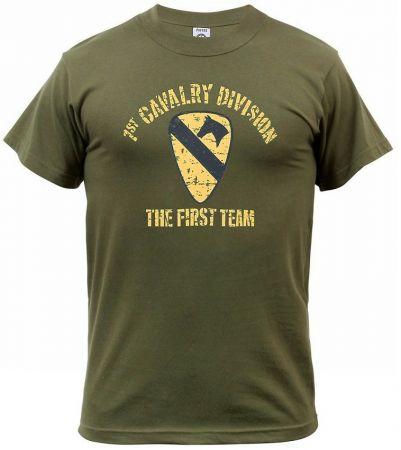 Tričko 1ST CAVALRY DIVISION zelená