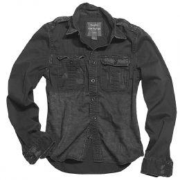Košile SURPLUS RAW VINTAGE dlouhý rukáv černá