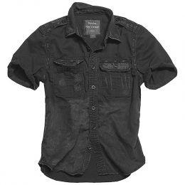 Košile SURPLUS RAW VINTAGE krátký rukáv černá