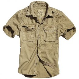 Košile SURPLUS RAW VINTAGE krátký rukáv béžová