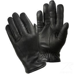 Rukavice zimní ROTHCO® POLICE kůže černá