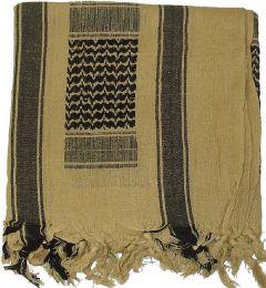 Šátek SHEMAGH coyote & černá
