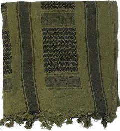 Šátek SHEMAGH oliva & černá