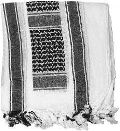 Šátek SHEMAGH bílá & černá