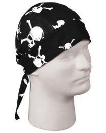 Šátek ROTHCO® HEADWRAP SKULL & CROSSBONES
