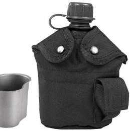 Polní láhev US ARMY s pítkem černá