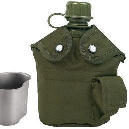 Polní láhev US ARMY s pítkem oliva