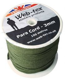 Šňůra WEB-TEX® PARACORD 3mm oliva-1bm