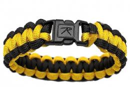 Náramek ROTHCO® PARACORD žlutá & černá