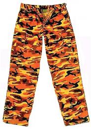 Kalhoty MMB BDU orange camo