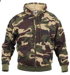Mikina ROTHCO® THERMAL zip woodland camo
