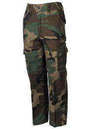 Kalhoty dětské BDU woodland camo