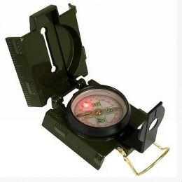 Kompas US s osvětlením LED zelená