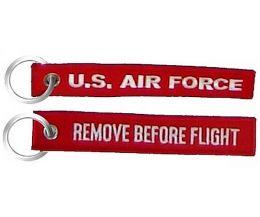 Přívěsek U.S. AIR FORCE RBF červená