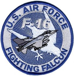 Nášivka U.S. AIR FORCE FIGHTING FALCON modrá