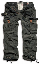 Kalhoty SURPLUS PREMIUM VINTAGE black camo