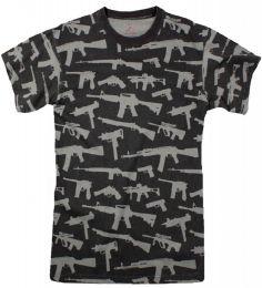 Tričko ROTHCO® GUNS černá