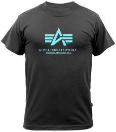 Tričko ALPHA INDUSTRIES BASIC černá & modrá
