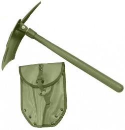 Polní lopatka MIL-TEC® US dřevěná rukojeť oliva