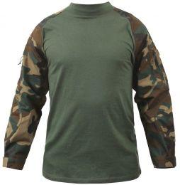 Taktická košile ROTHCO® COMBAT woodland camo