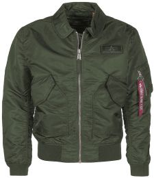 Bunda ALPHA INDUSTRIES CWU LW PM tm.zelená