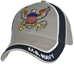 Čepice U.S. NAVY šedá