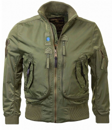 Bunda ALPHA INDUSTRIES PROP sage green