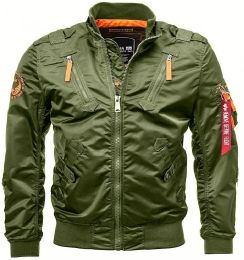 Bunda ALPHA INDUSTRIES FALCON II tm.zelená