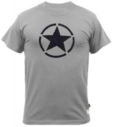 Tričko ALPHA INDUSTRIES STAR šedá & černá