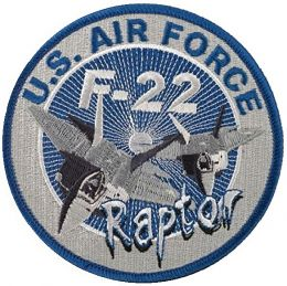 Nášivka F-22 RAPTOR modrá