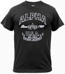 Tričko ALPHA INDUSTRIES FJ černá