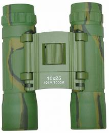 Dalekohled MIL-TEC® BINOCULAR 10x25 woodland camo