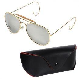 Brýle sluneční US AIR FORCE zrcadlové & zlatý rámeček