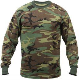 Tričko ROTHCO® dlouhý rukáv woodland camo
